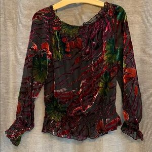 Fabulous sheer blouse with cami
